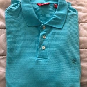 IZOD L/G Blue/Green Color Polo Short Sleeve